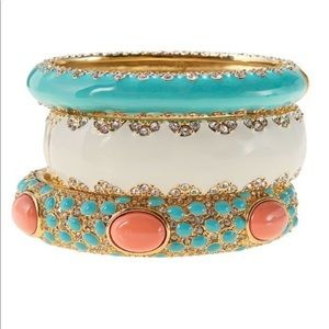 Three! Stella & Dot Bangle Set Sunset Sloane Paige